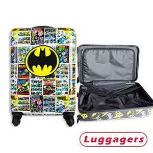 Batman Luggage 20 Inches Hard-Sided Carry-On Travel Suitcase