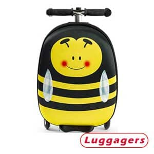 Kiddietotes Lightweight Carry-On Bee Suitcase Luggage