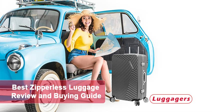 Happy Traveller with Best zipperless luggage