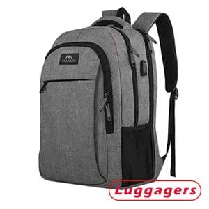 Matein 1007GRY 17-inch Backpack - Ideal for Travel and Business